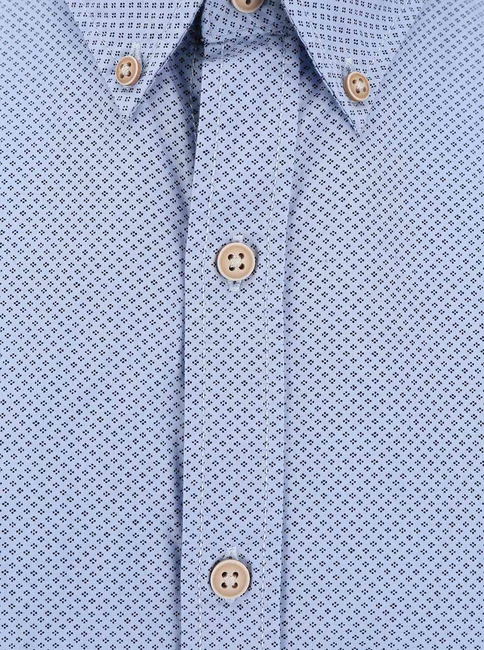 eab509d7366 Světle modrá pánská košile s krátkým rukávem Broadway Eugen ...