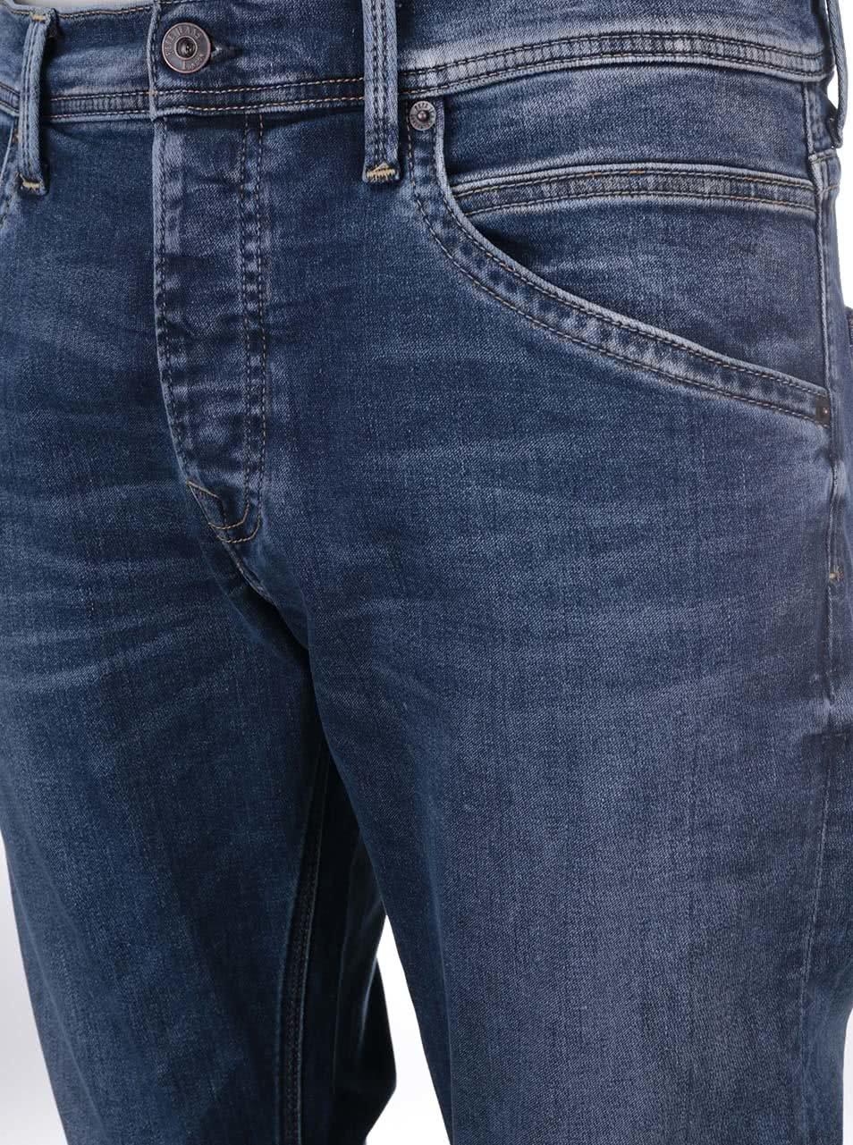 Modré pánské rovné džíny Pepe Jeans Track ... 05e68b0225