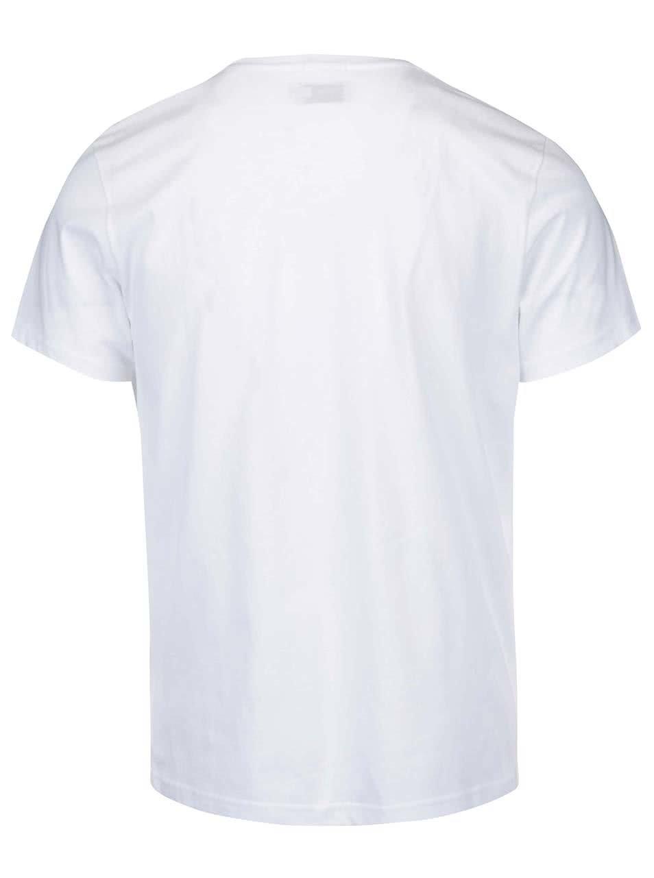 5f7ed631847 Bílé pánské triko s nápisem Pepe Jeans Eggo ...