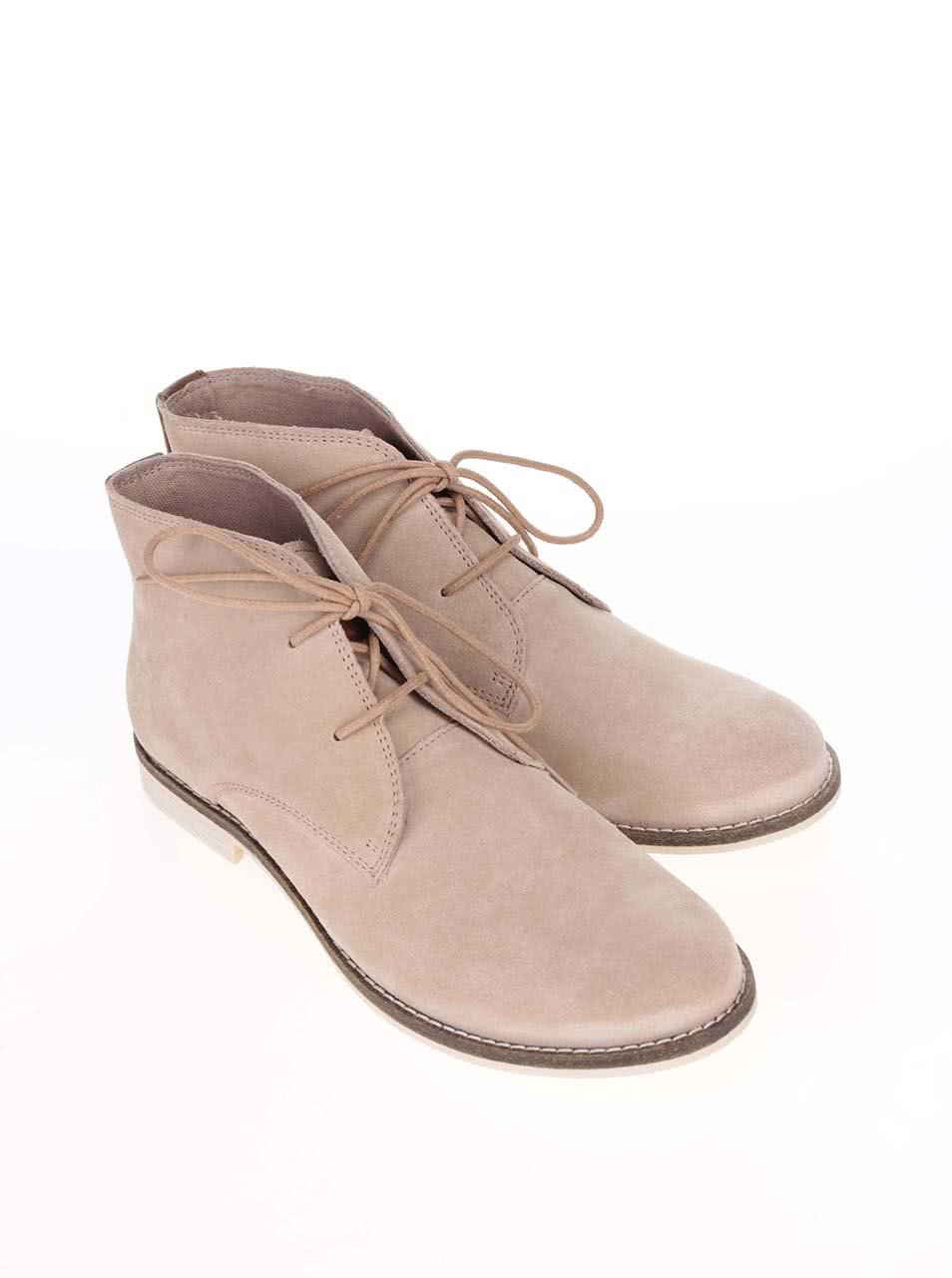 0b80e770037a Krémové dámské kožené kotníkové boty s.Oliver ...