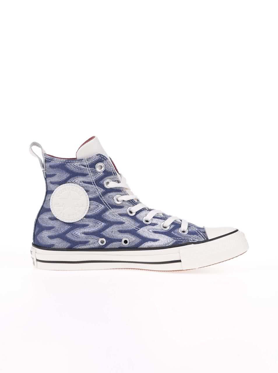 704beda47a2 Modro-bílé vzorované unisex tenisky Converse Chuck Taylor All Star ...