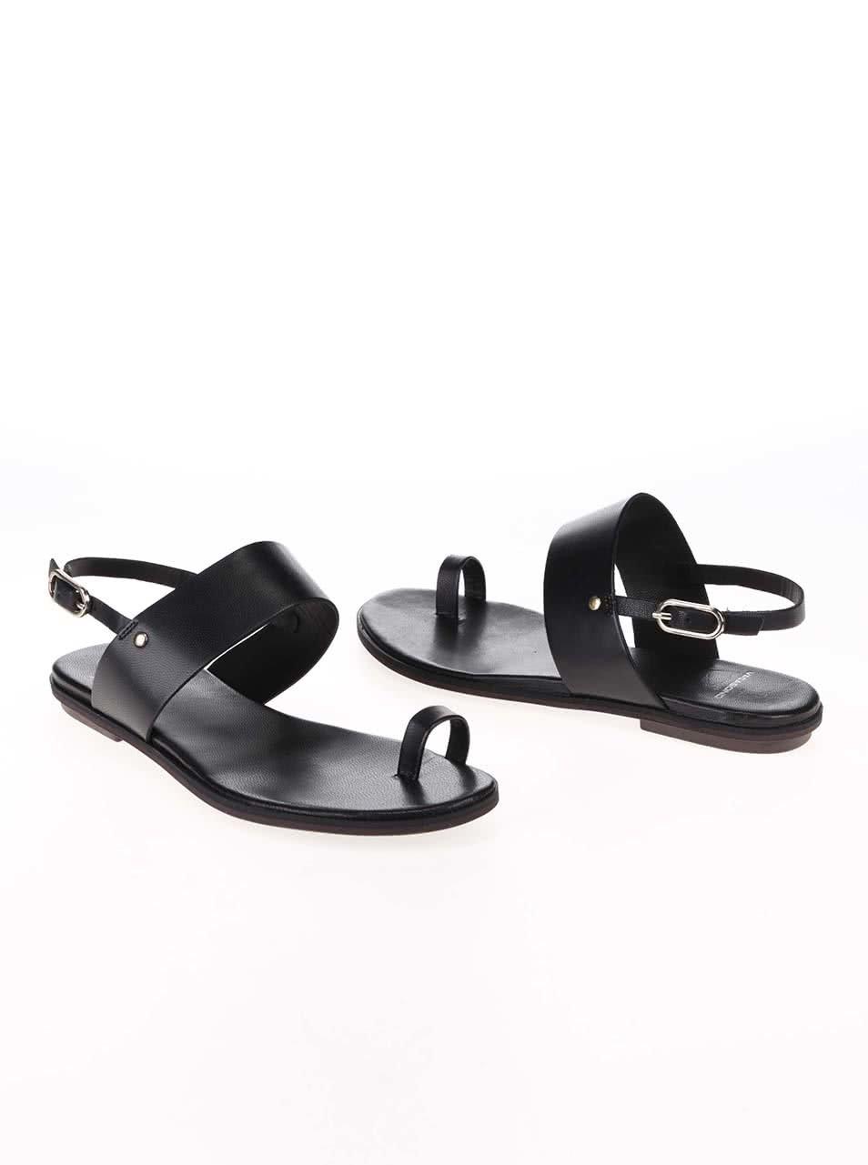 fa20e470e290 Čierne kožené sandále Vagabond Natalia ...