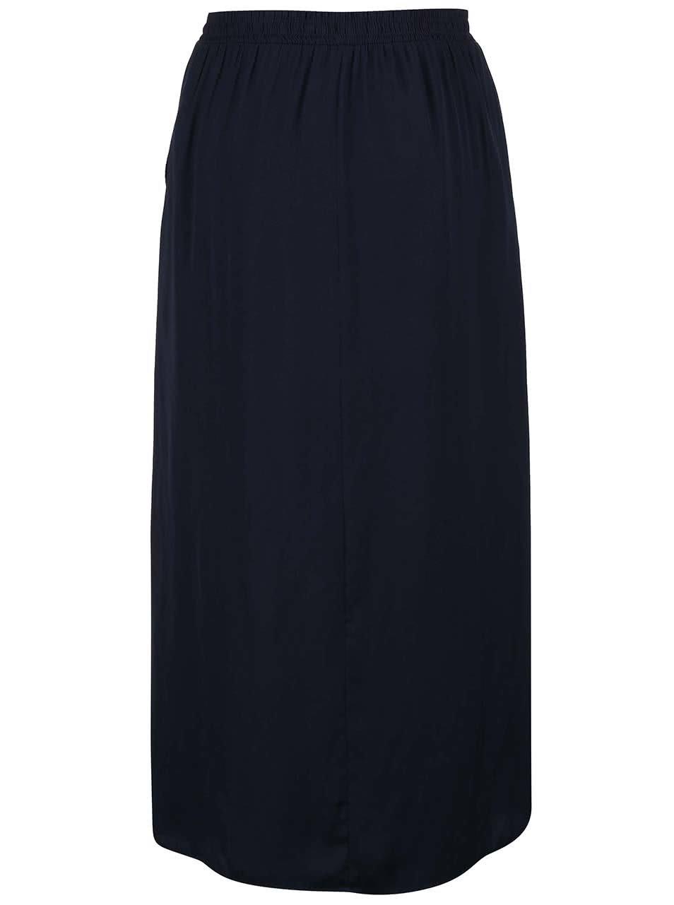 7df1e758d710 Tmavomodrá dlhá sukňa VERO MODA Nellie ...