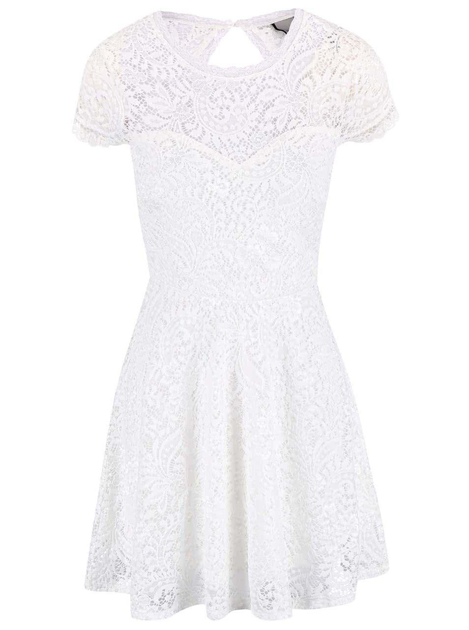 Bílé krajkované šaty VERO MODA Celeb ... 82df2a0883f