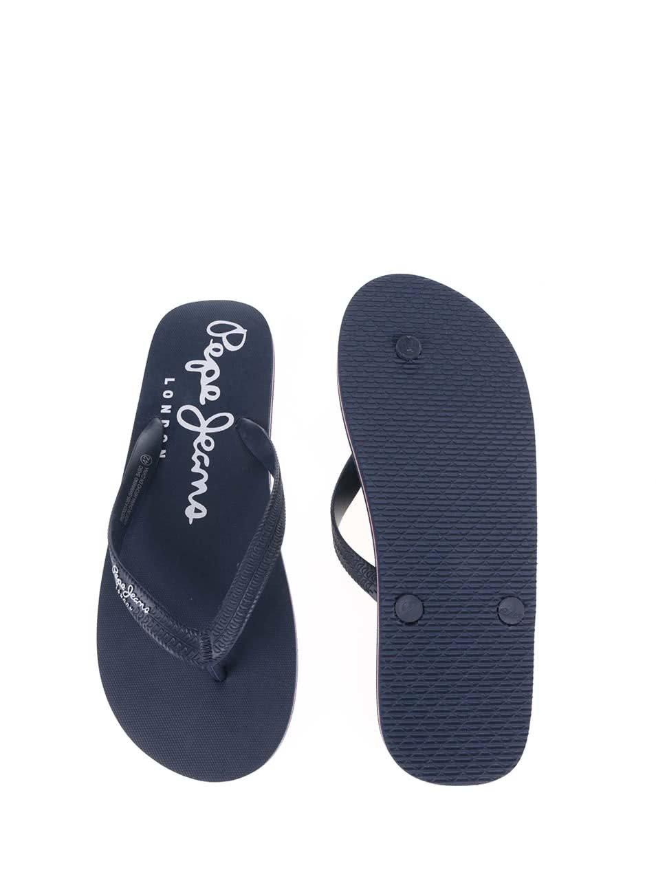 a5b4f86143bf Tmavomodré pánske žabky Pepe Jeans Swimming ...