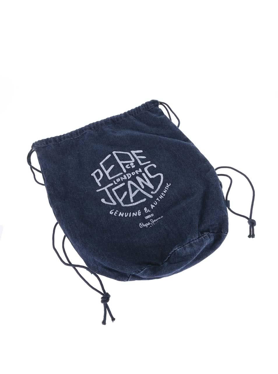 8fcf3d31a5f Modré pánske rifľové tenisky Pepe Jeans Industry Denim ...