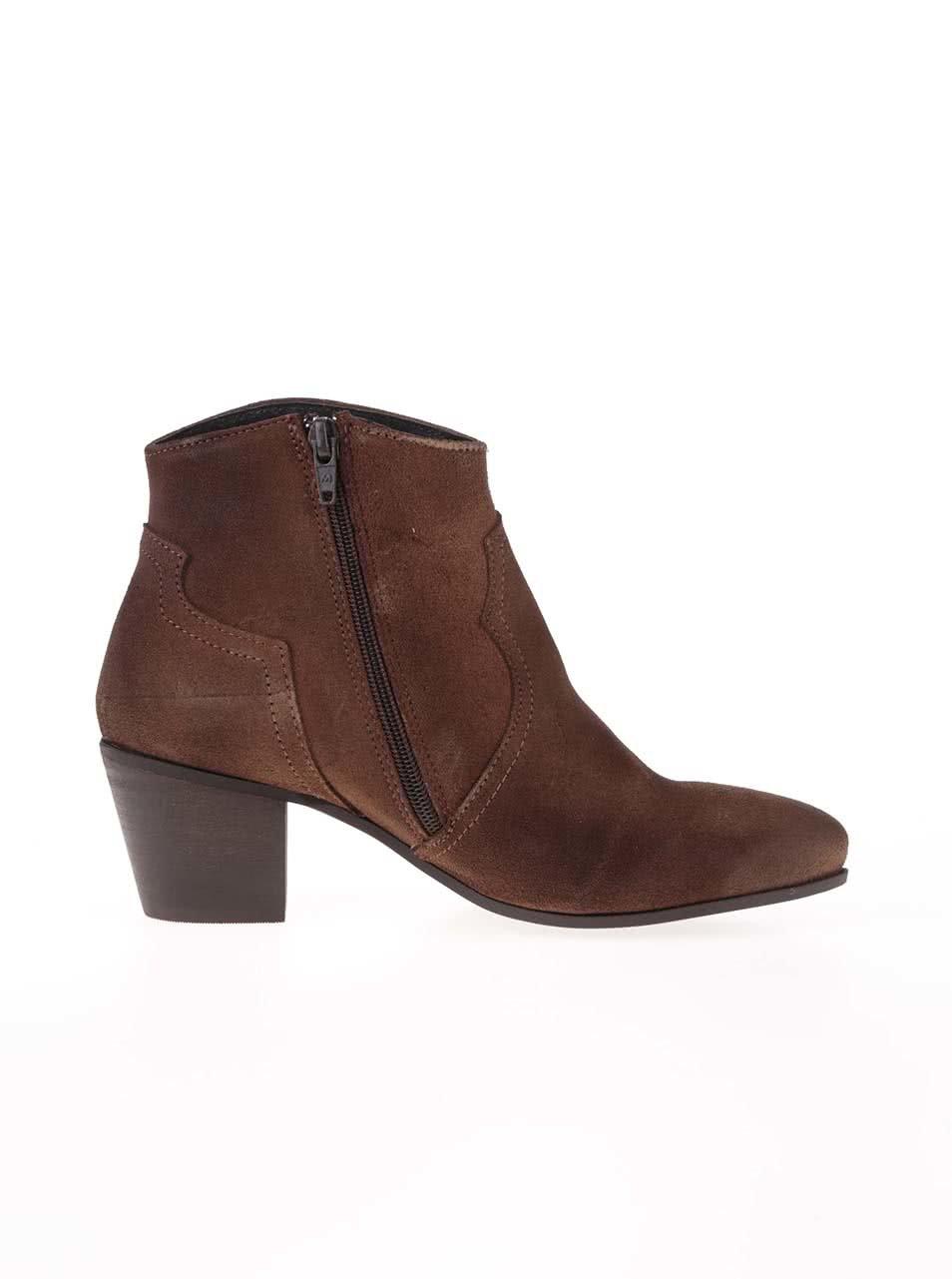57339b795e Hnedé dámske semišové topánky Bullboxer ...
