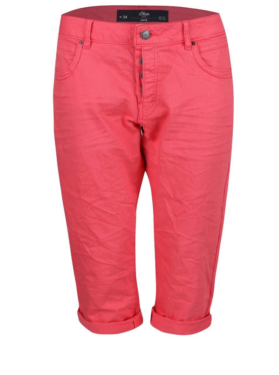 Růžové dámské 3 4 kalhoty s.Oliver Catie  f5c00cb77c