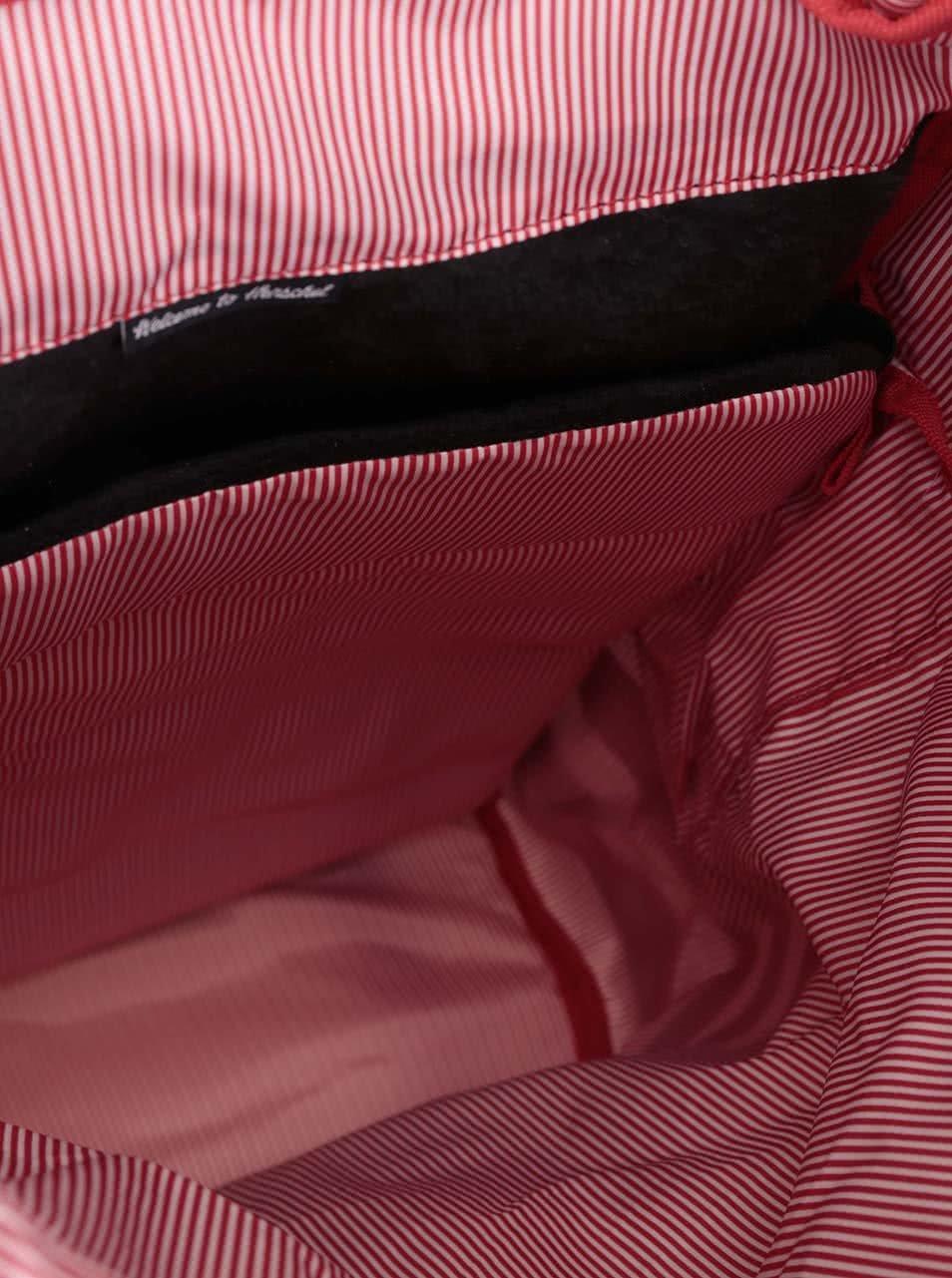 Černo-šedý batoh s hnědými popruhy Herschel Little America ... 7b3314afc2