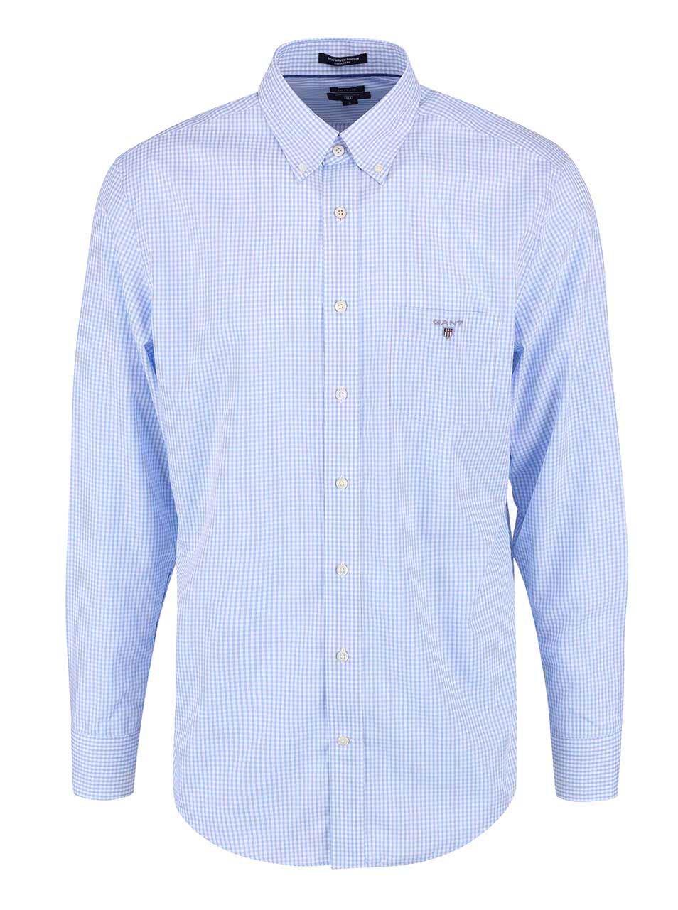 2ec86e41ed1a Modrá pánska kockovaná regular fit košeľa GANT ...