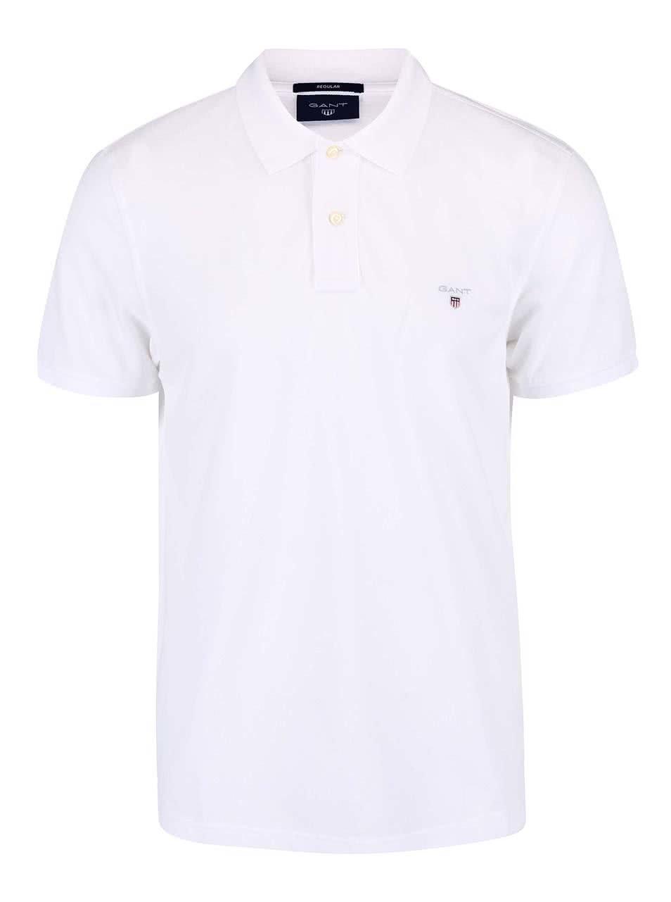 5cb20be1af7 Bílé pánské polo tričko GANT Original Pique ...