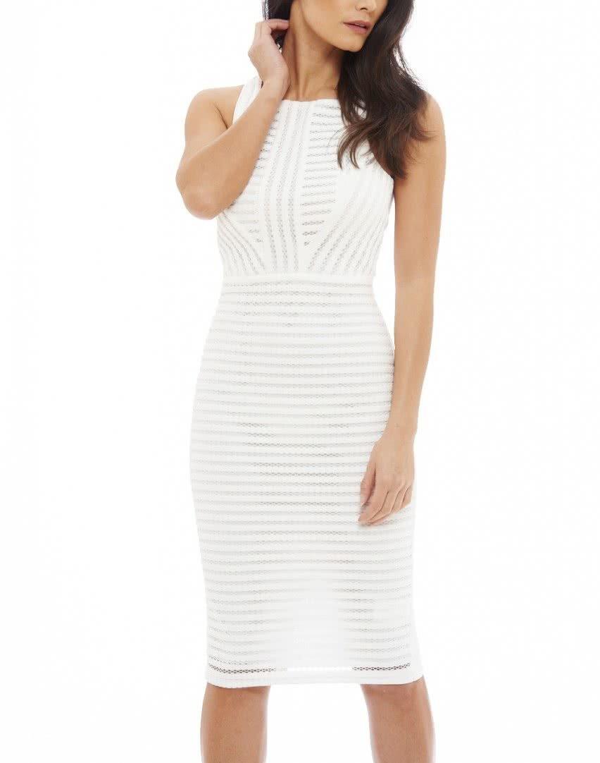 43d19d96c Biele perforované midi šaty AX Paris | ZOOT.sk