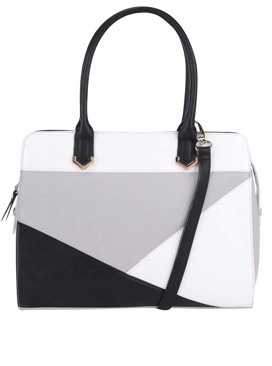 Čierno-bielo-sivá kabelka DSUK ... fcbe0045182