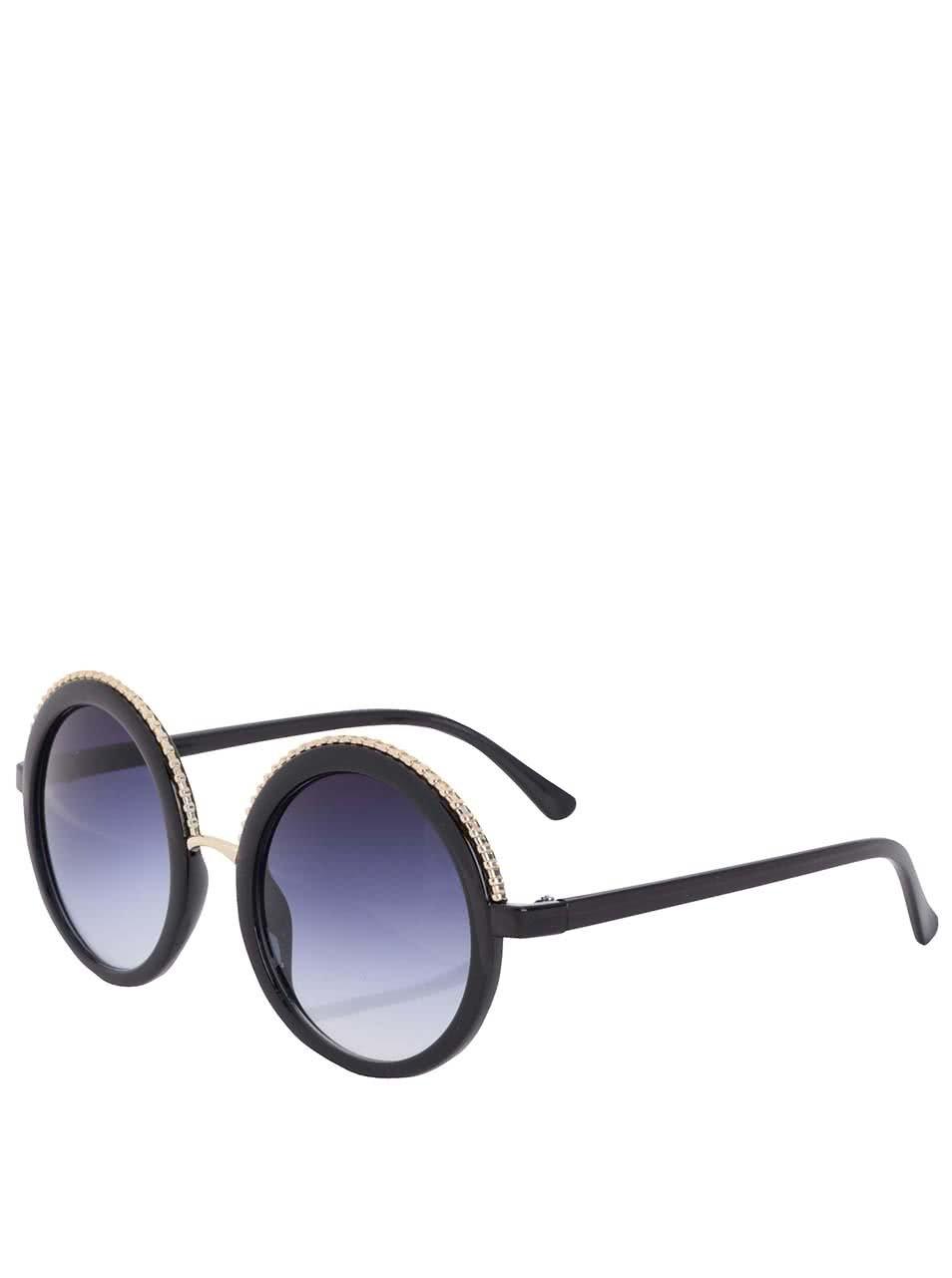 Čierne dámske okrúhle slnečné okuliare Jeepers Peepers ... 0af2dd5691c