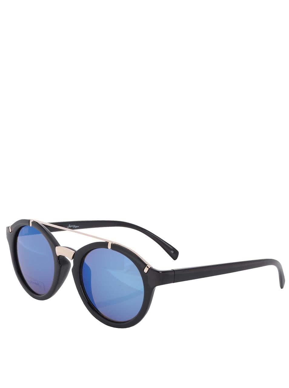 Čierne dámske slnečné okuliare s detailmi v zlatej farbe Jeepers Peepers ... 97708c4b739