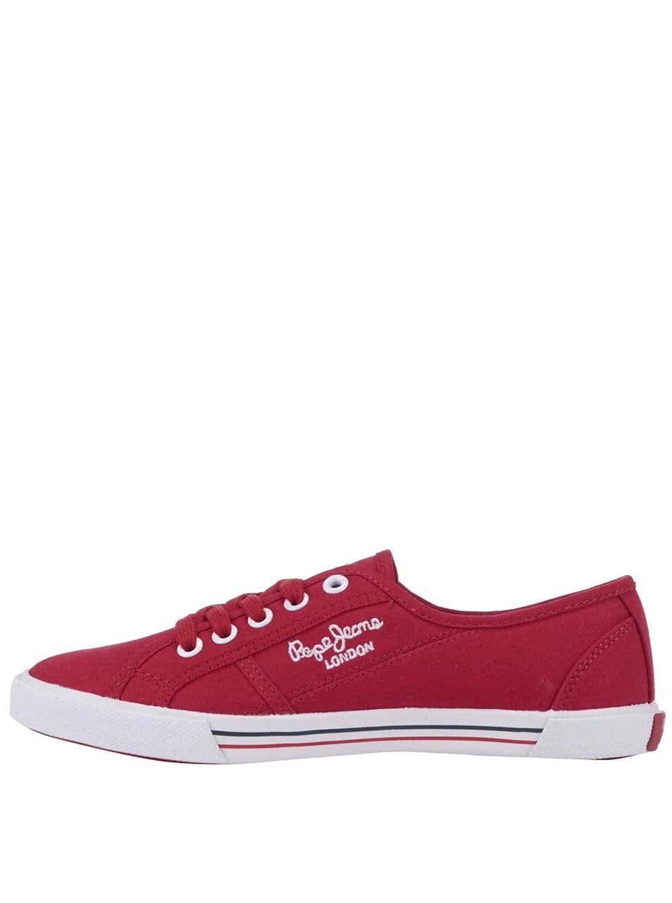 Červené dámské tenisky Pepe Jeans ... 67f1c75d92