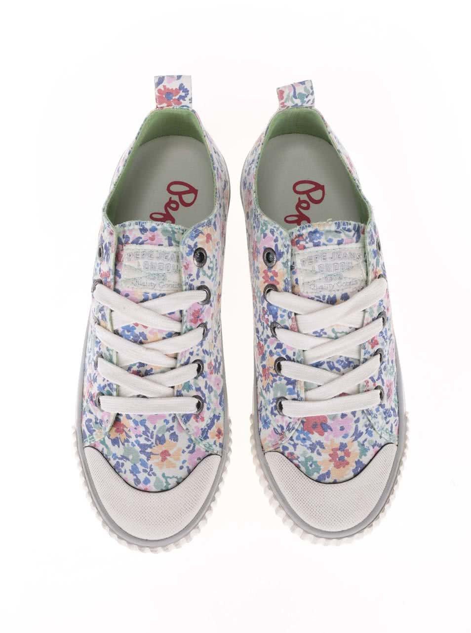 037d8f68bb72 Farebné dámske kvetinové tenisky Pepe Jeans ...