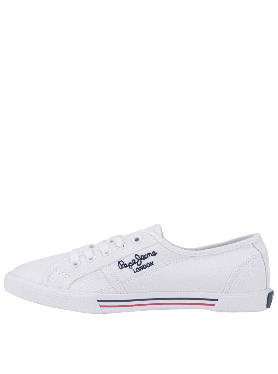 Biele dámske tenisky Pepe Jeans ... 20385670664