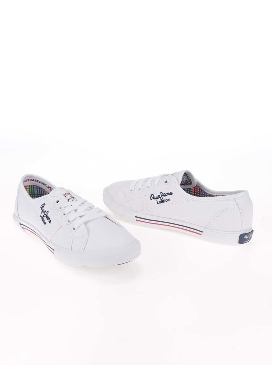 Bílé dámské tenisky Pepe Jeans ... 9a750676e19