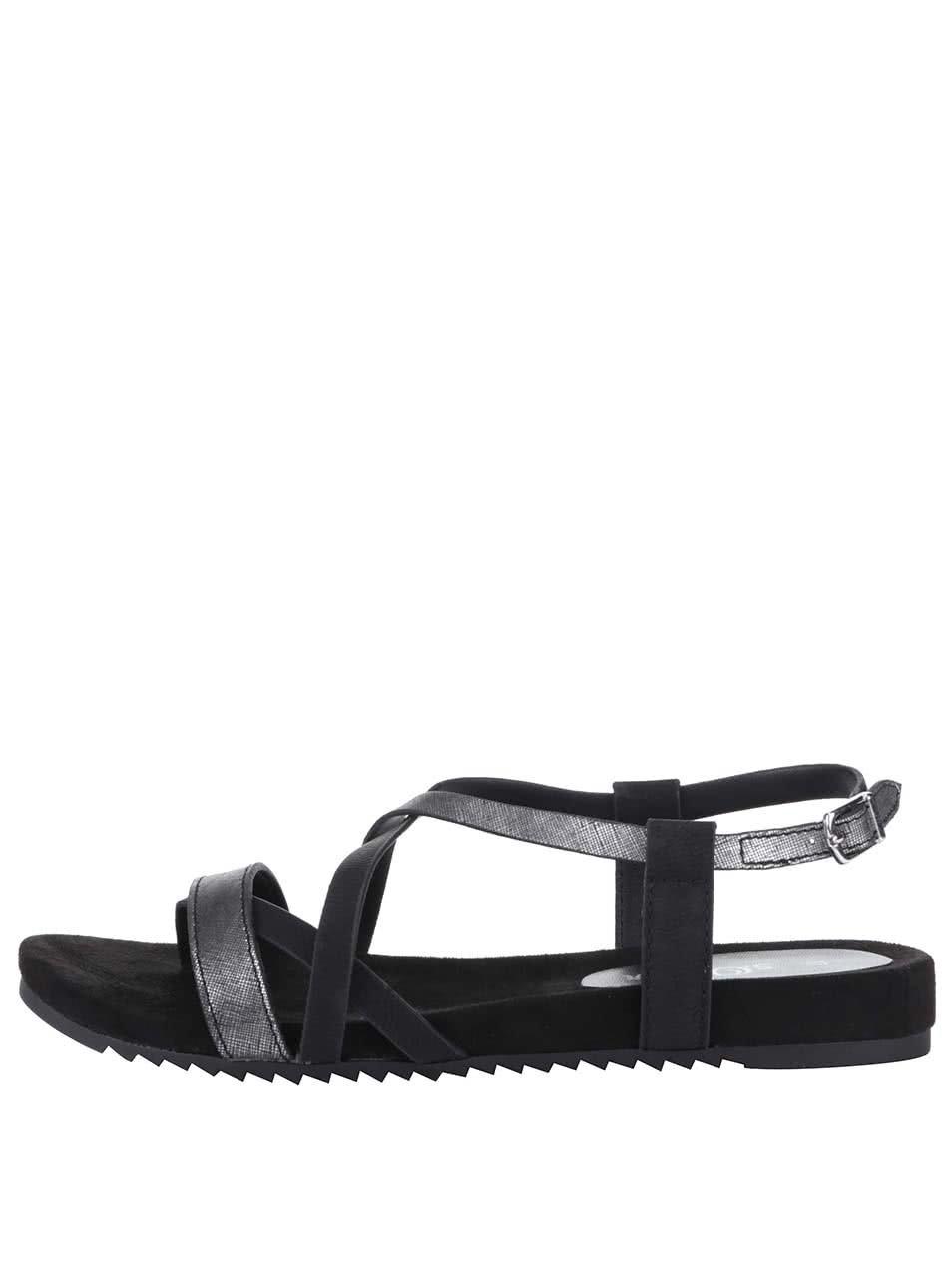 d9ac17400ea Černé páskové sandály s.Oliver ...