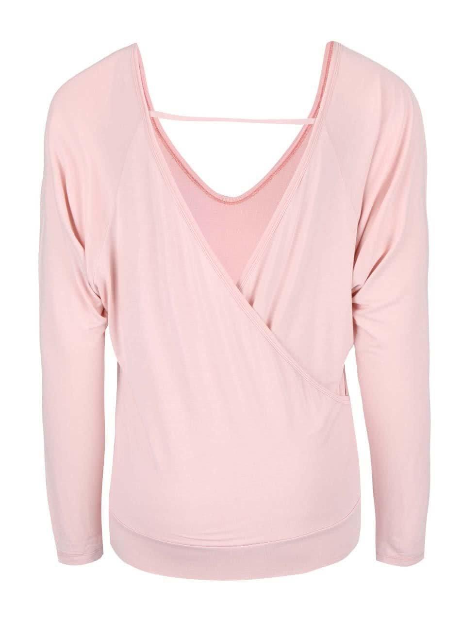 3a23a82e061 Světle růžové tričko s odhalenými zády DEHA ...