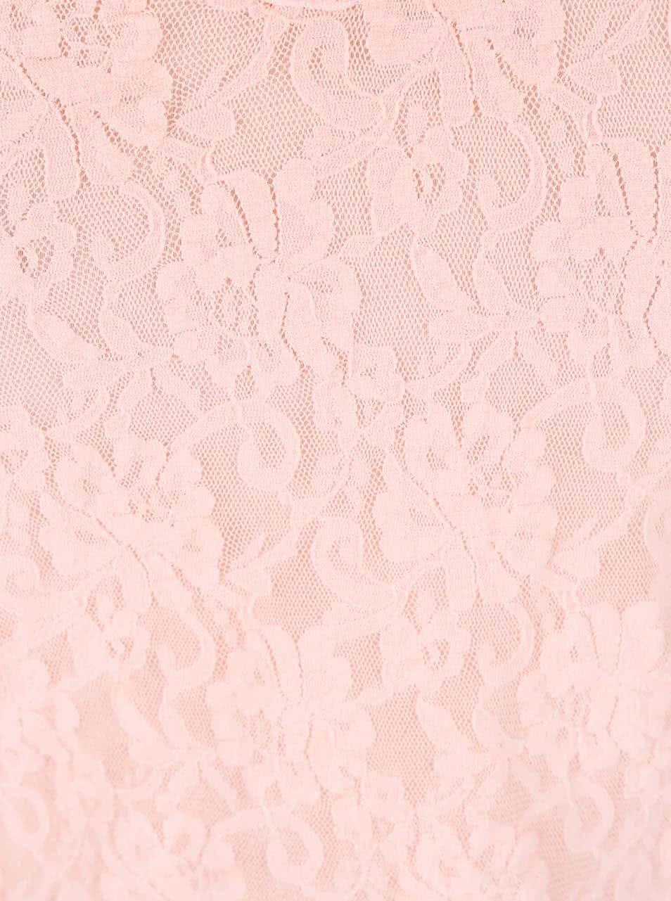 7e53d55bb32 Světle růžové krajkové tílko DEHA ...