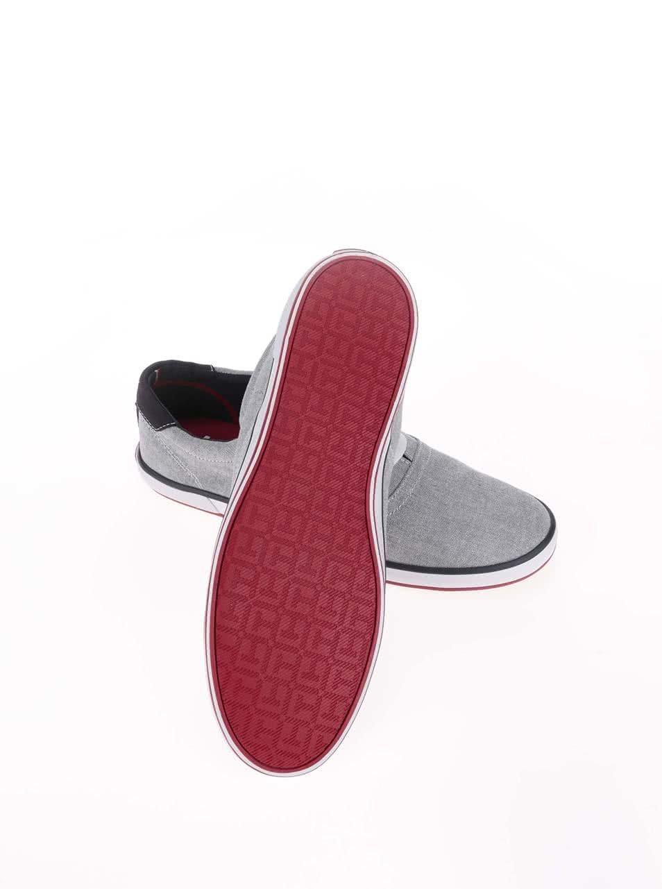 Sivé pánske tenisky s červeným detailom Tommy Hilfiger Arlow ... a5cedb67d40