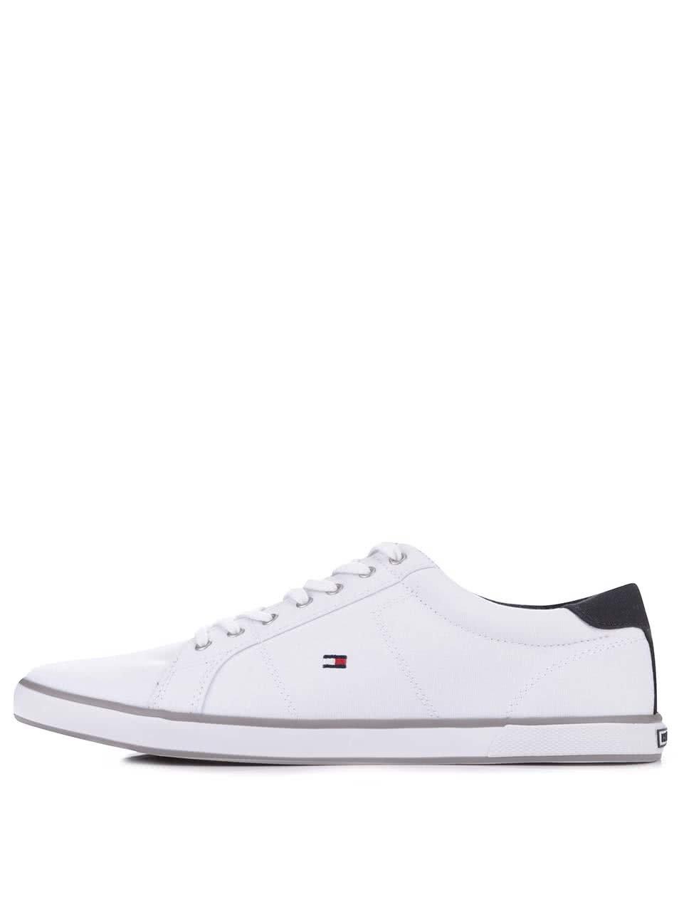 Bílé pánské tenisky s šedým detailem Tommy Hilfiger Arlow ... 7cdd1c58c2