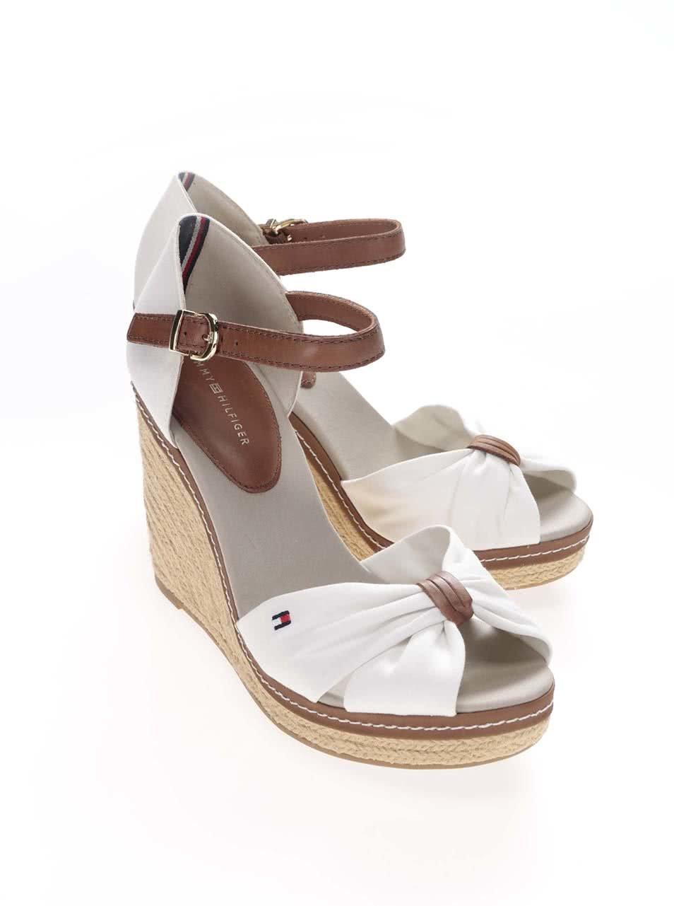 Biele dámske topánky na platforme Tommy Hilfiger ... 22f8128e99f