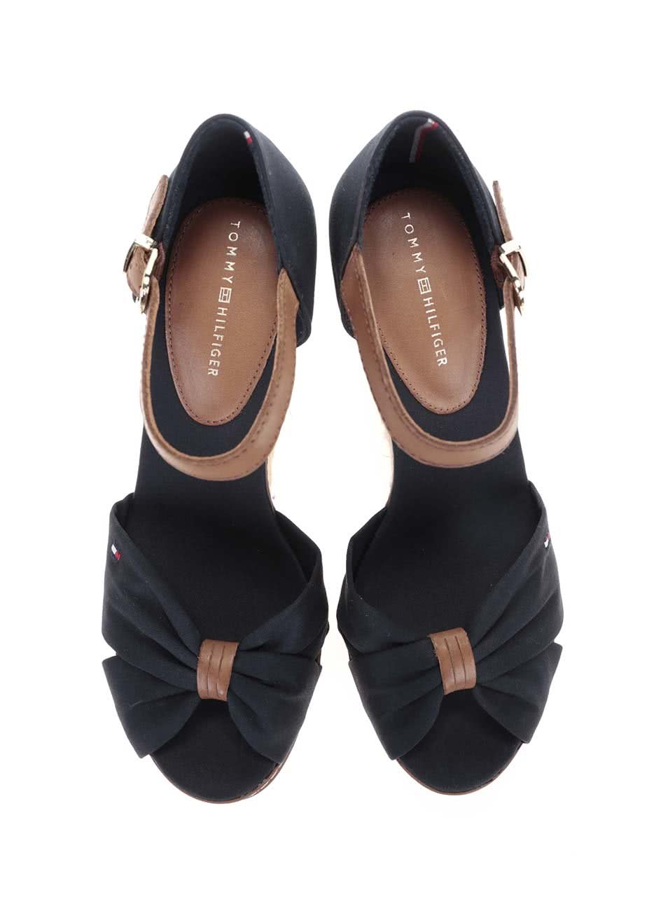 Tmavě modré dámské boty na klínku Tommy Hilfiger ... 0f983ad182