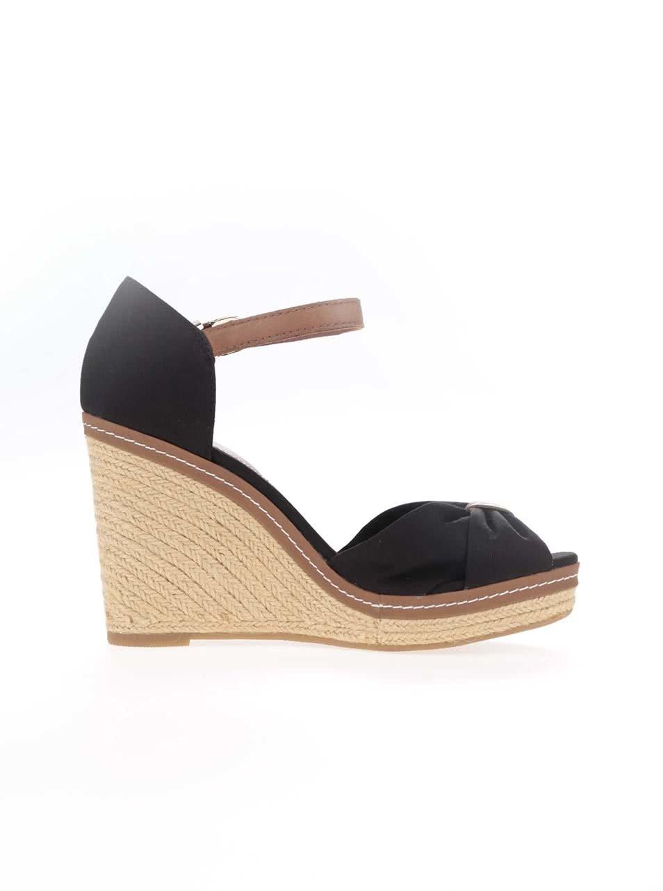 ab53d4b85c Čierne dámske topánky na platforme Tommy Hilfiger ...