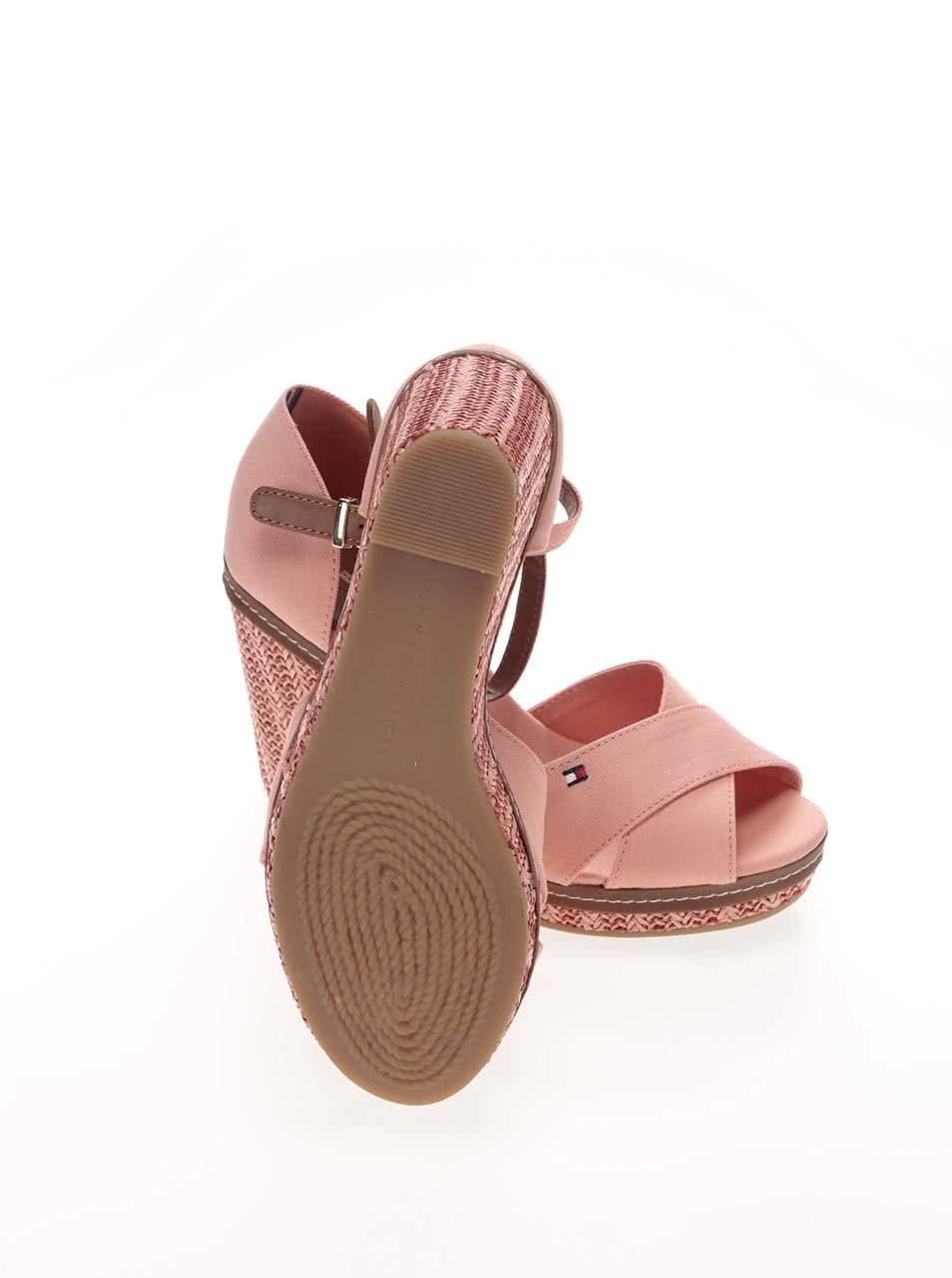 2b7b16b5053 Lososové dámské bavlněné boty na klínku Tommy Hilfiger ...