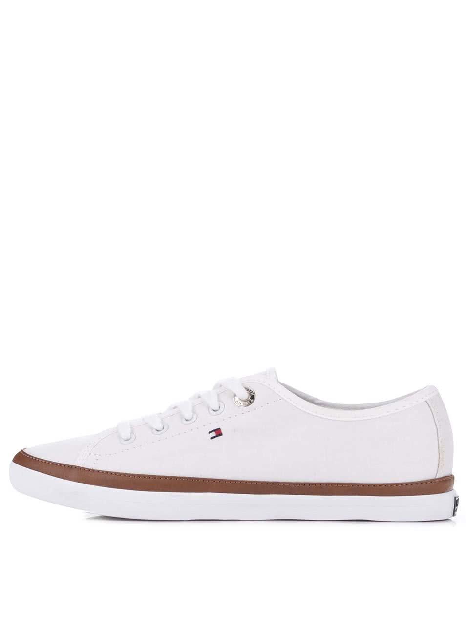 Biele dámske plátené tenisky Tommy Hilfiger ... d878d2860e