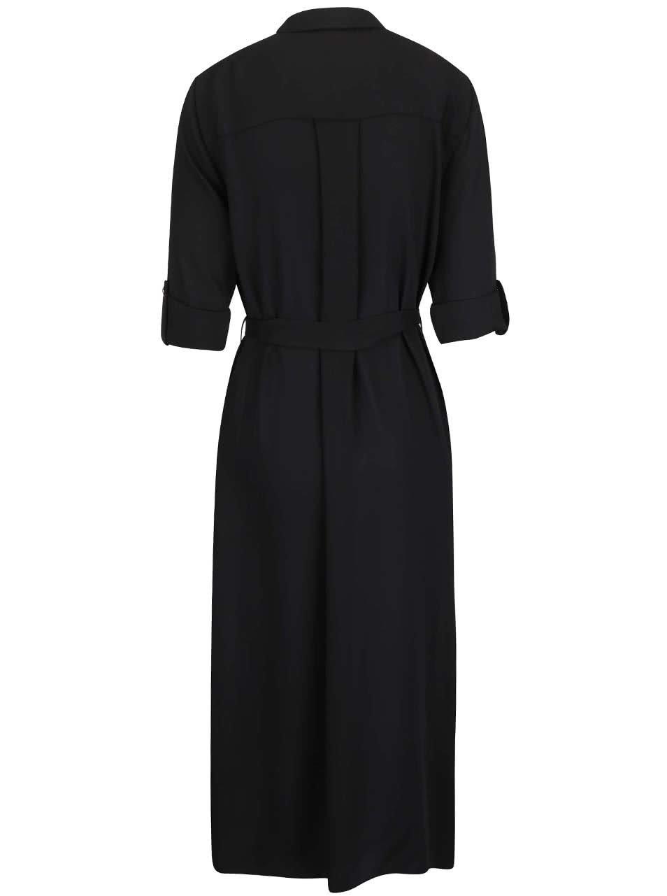 d317999f4d0 Černé košilové šaty na knoflíky v zlaté barvě Closet ...