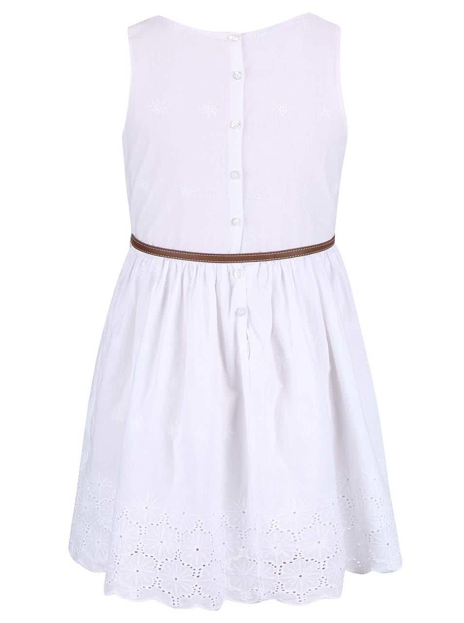 Biele dievčenské šaty s opaskom name it Gimola ... 094c5bb809c