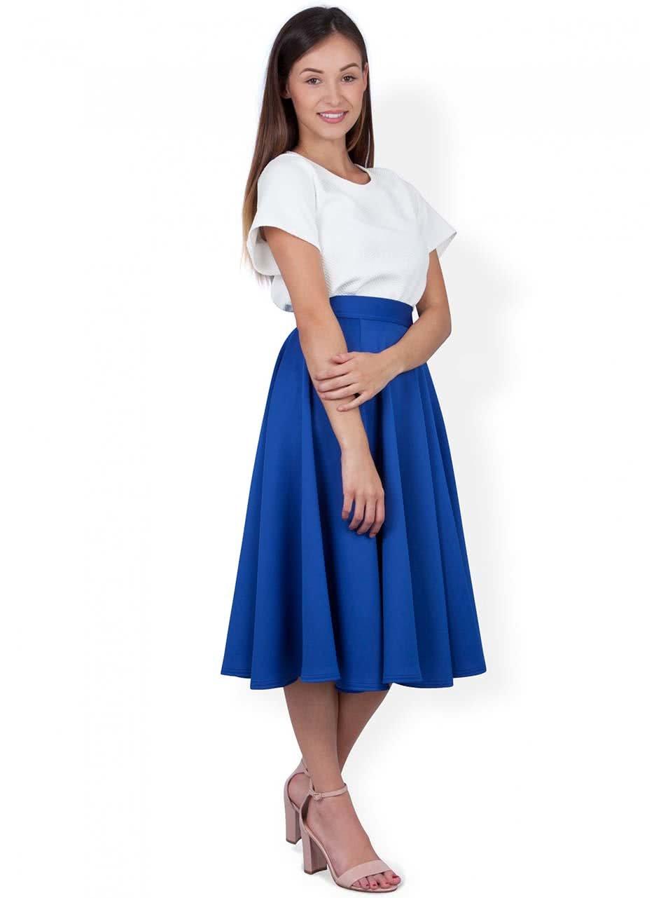 250b6f28372e Modrá midi sukně Closet ...