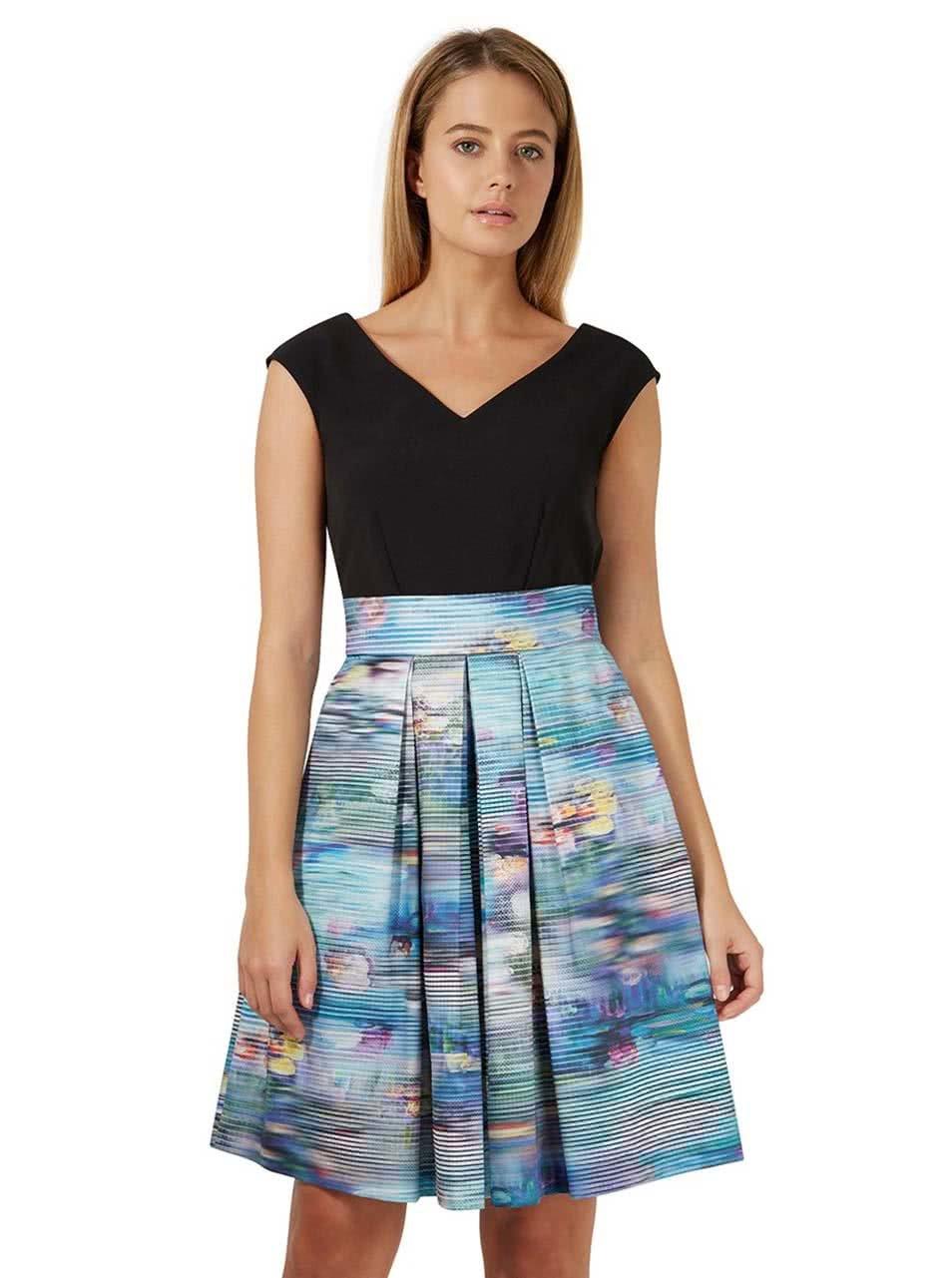 Černé šaty s barevnou sukní Closet ... b5a847c9d1