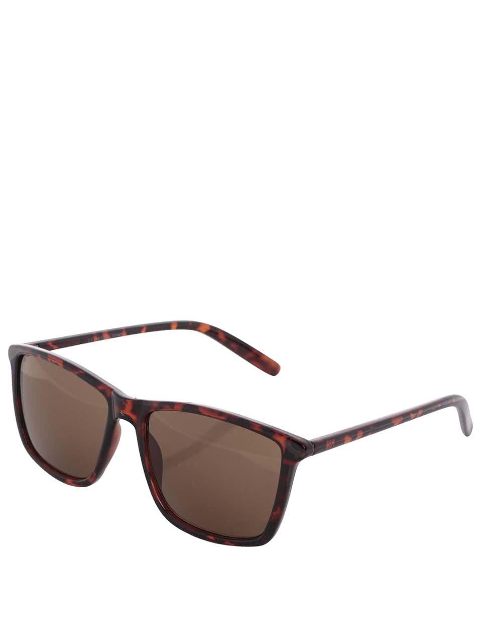 Hnědé želvovinové sluneční brýle Jack & Jones Jack