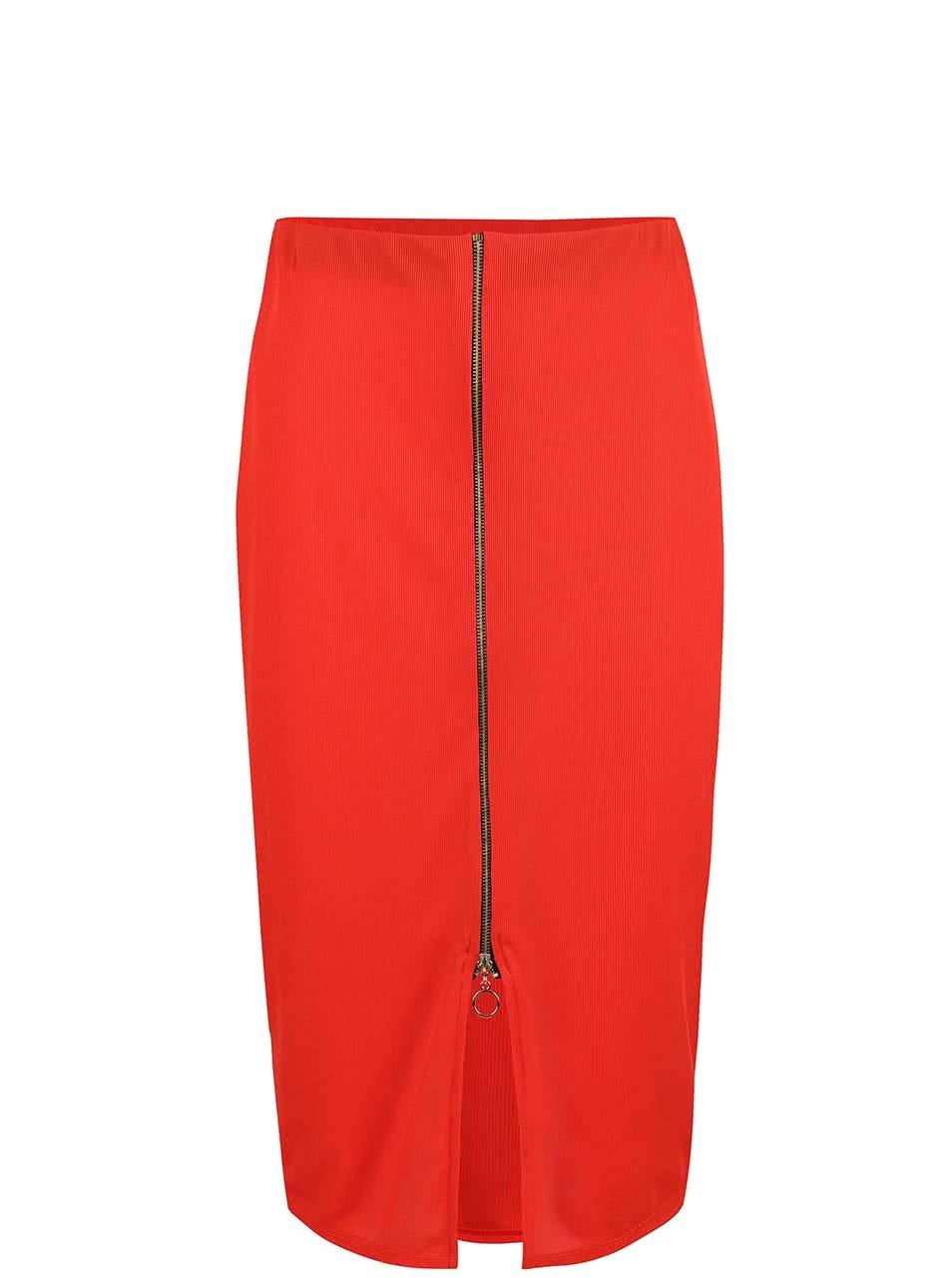 5717e745dcd7 Červená midi sukňa so zipsom Dorothy Perkins ...