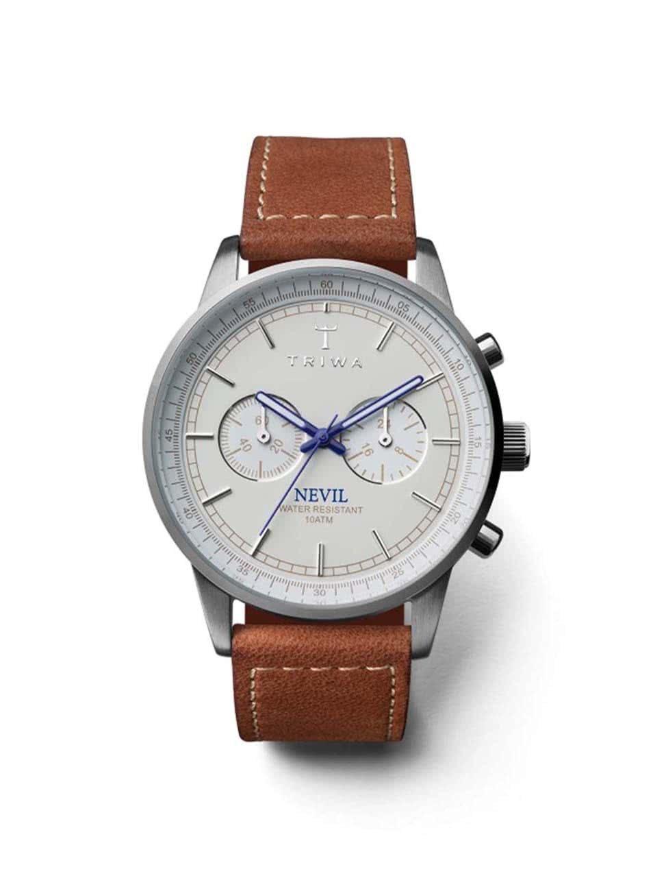 Bílo-modré pánské kožené hodinky TRIWA Nevil ... bc923d0466
