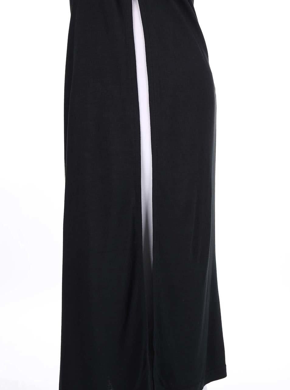 Černé dlouhé šaty s průstřihy na zádech Bench Actingout ... ea17eeefa5