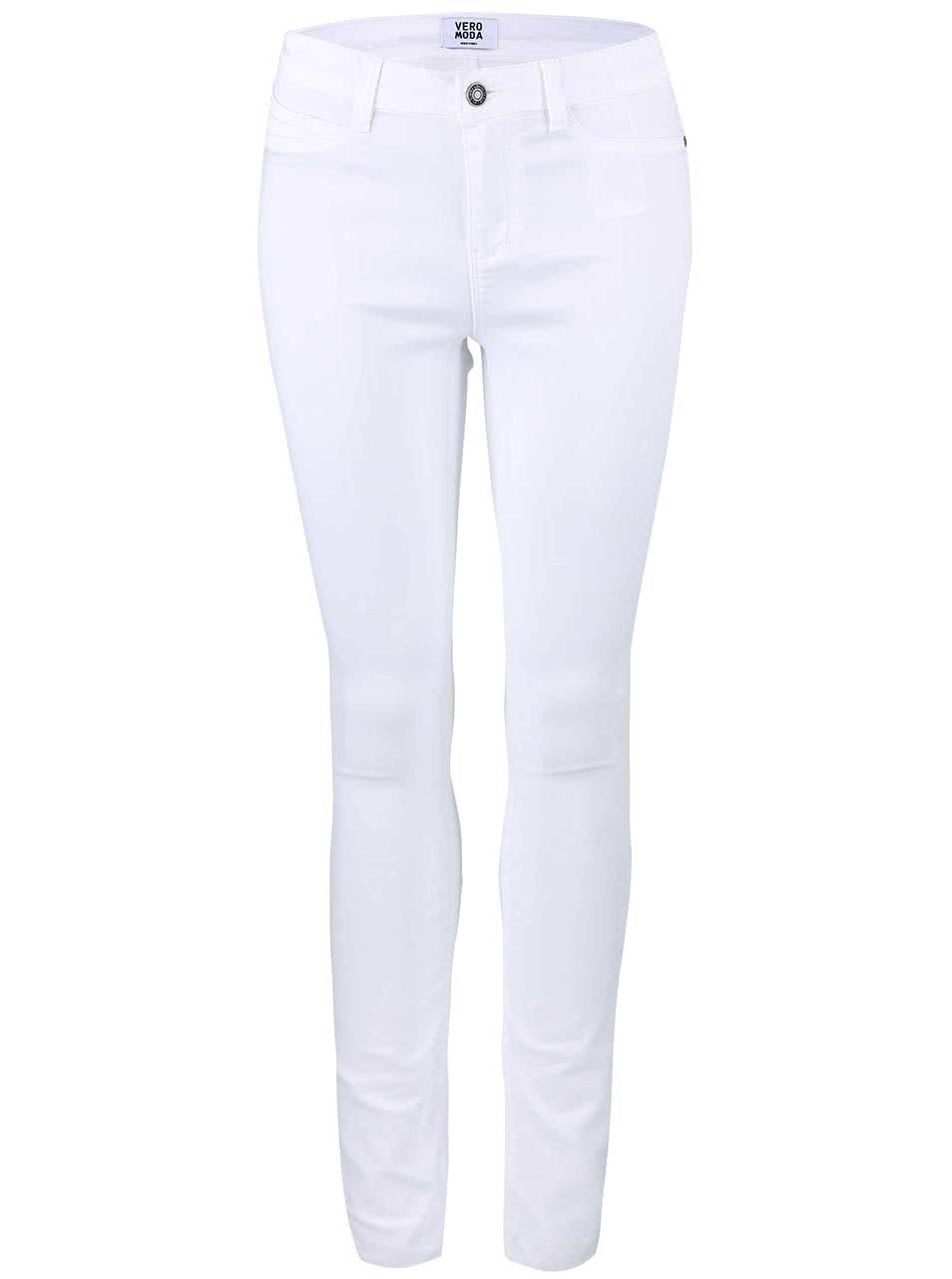 Bílé elastické džíny VERO MODAy Flex ... c13e5b501a