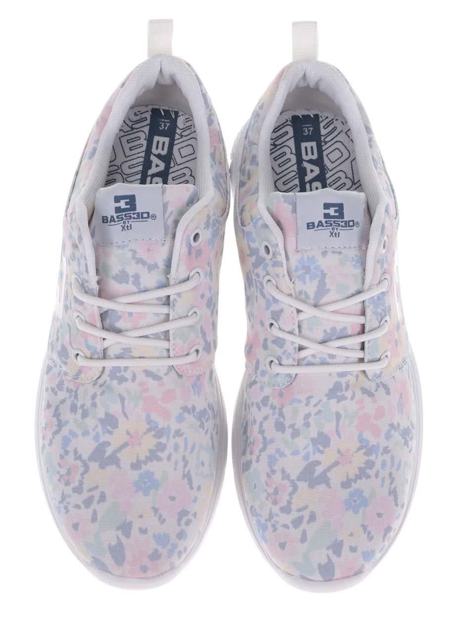 1c6fab91a8a2f Biele dámske kvetované tenisky Bassed | ZOOT.sk