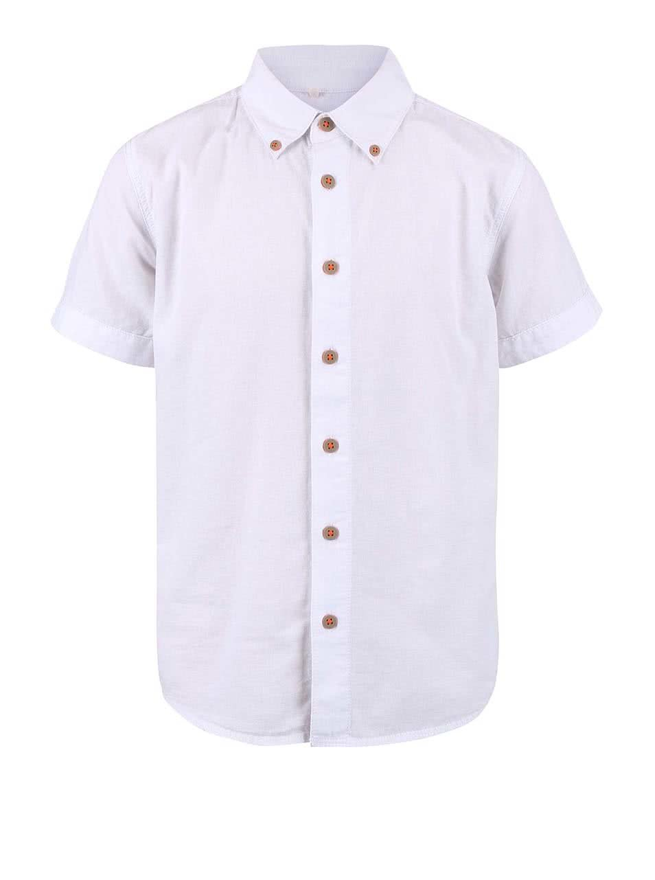 e7a2aff229cb Biela chlapčenská košeľa s krátkym rukávom name it Gerbert ...