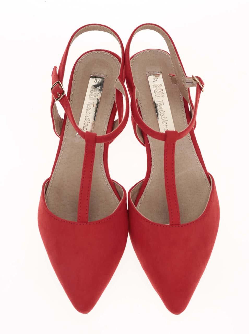 61997122d40b Červené sandálky s uzavřenou špičkou Xti ...