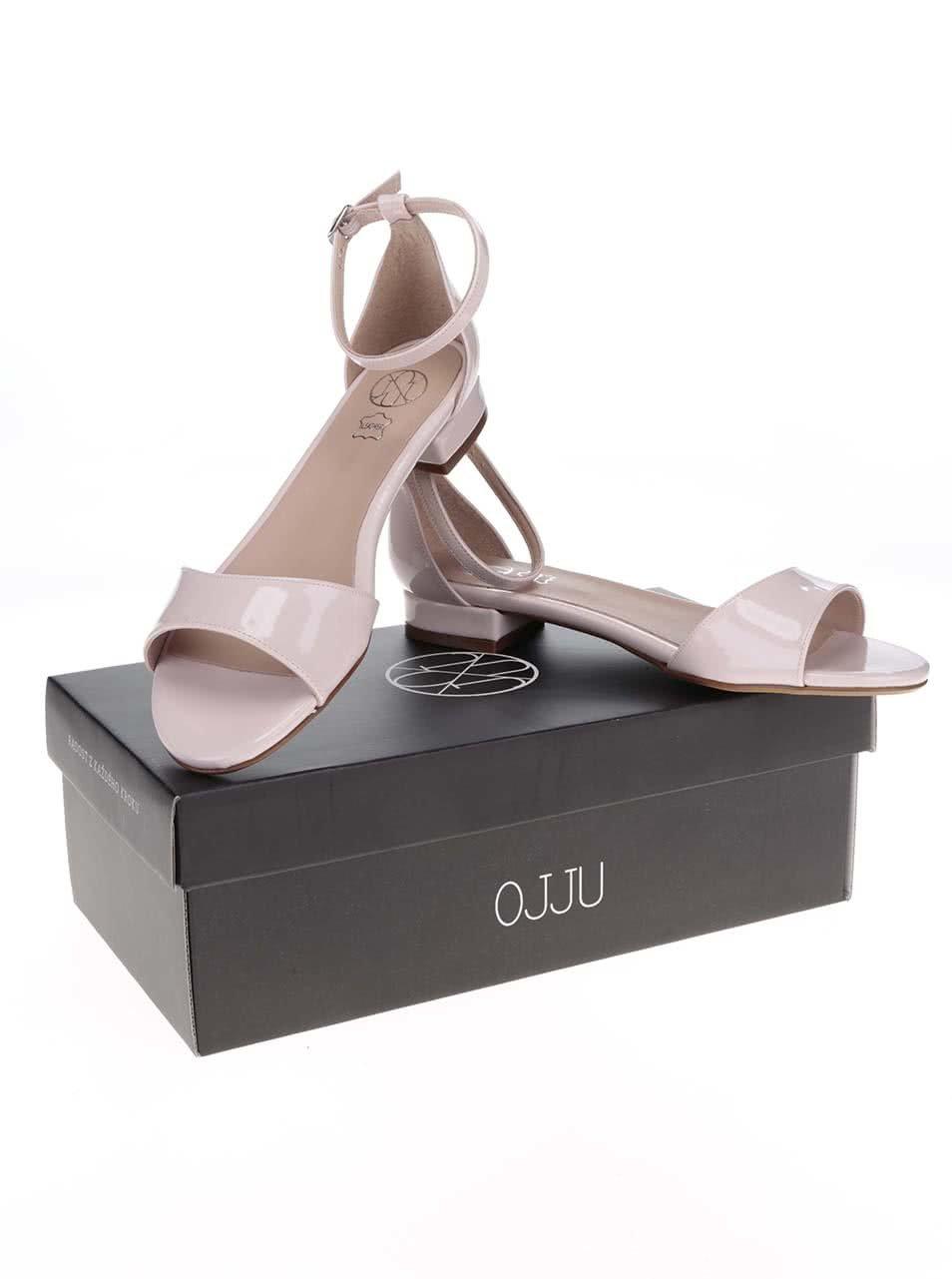 76d3a3ea044 Světle růžové lakované sandálky OJJU ...