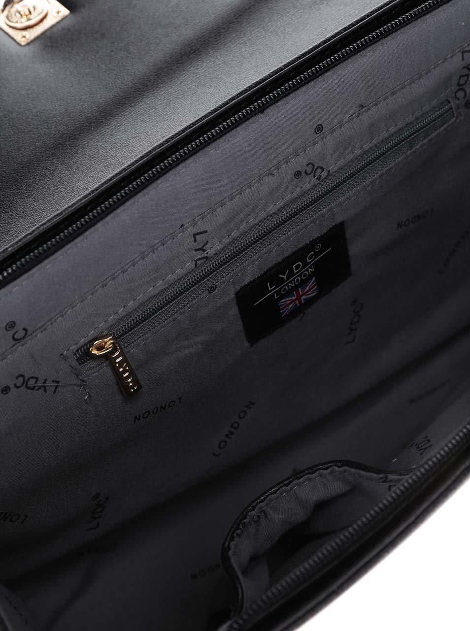 Černá kabelka s mašličkou LYDC ... c5ff249231c