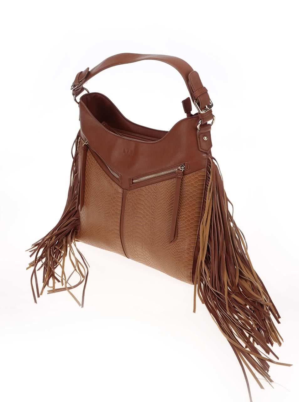 4b9b80b71e Hnedá kabelka so strapcami LYDC ...