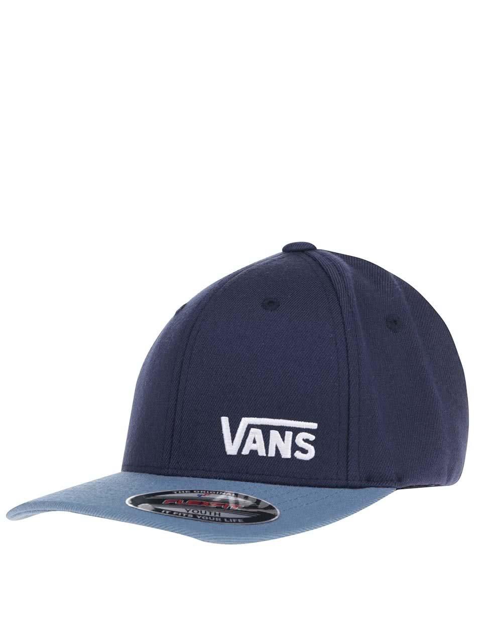 0cf5be116ea Modrá pánská kšiltovka s nápisem Vans ...
