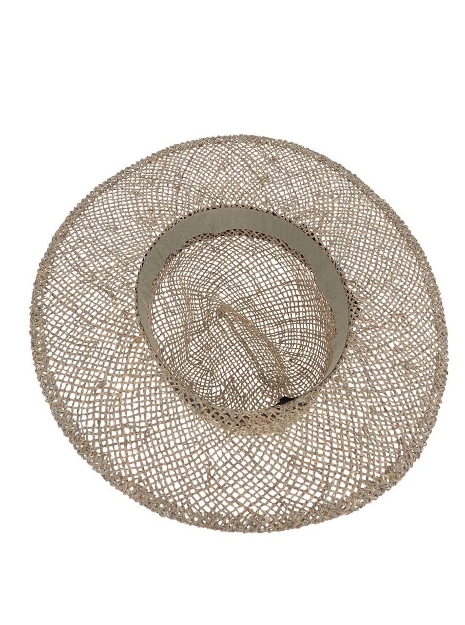 e45aae1dcf5 Slaměný klobouk s černou mašlí VERO MODA Ellen ...